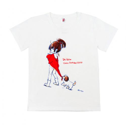 愛☆まどんなさんが誕生日にイラストを描いてくれたので感激のあまり頼み込んで作ったTシャツ
