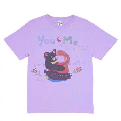秋 心寄せてるよTシャツ《薄ら紫》