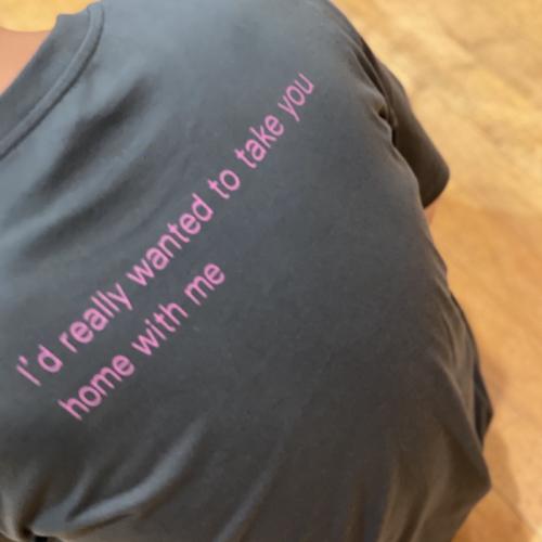 お持ち帰りTシャツ(スミ黒)